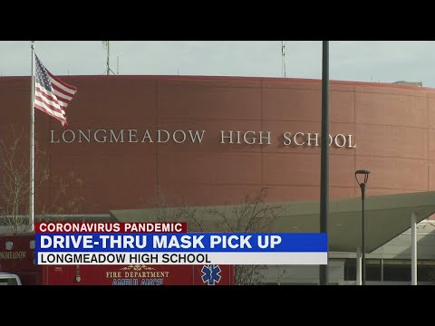Residents offered free masks at Longmeadow High School