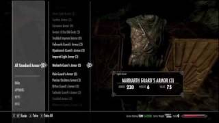 Skyrim Game Mod (All Items + Max level & Skill)