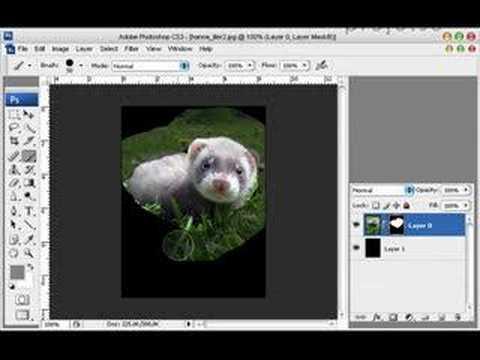 Photoshop Tutorial - Masker & Alpha-kanal