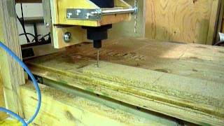 Home Made CNC Router Version 2 is up and running