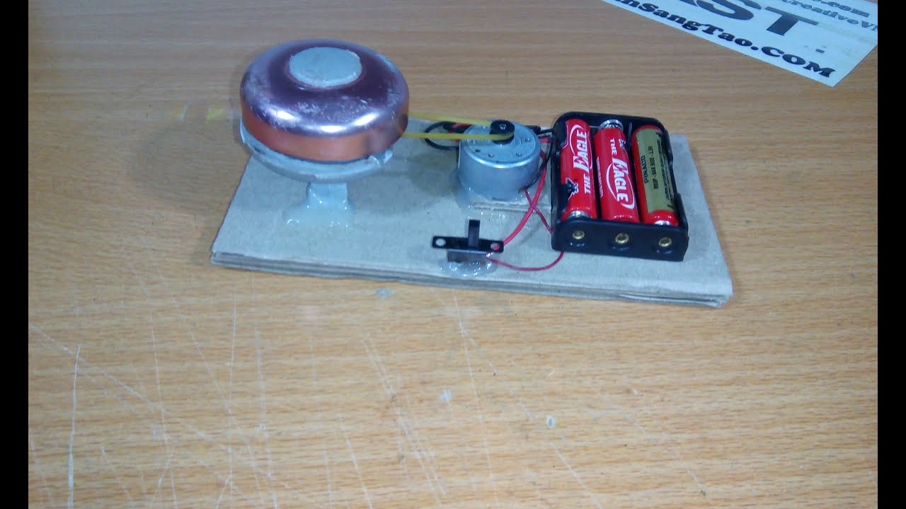 How to make electric bell mini (simple) - YouTube