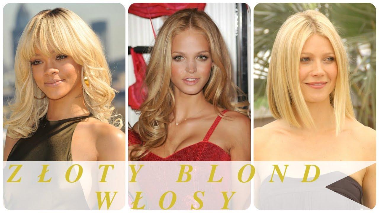Złoty Blond Włosy