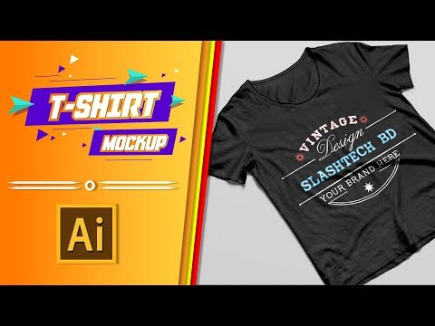 How to Create a T-shirt Mockup Design Photoshop Tutorial || Slashtech BD thumbnail