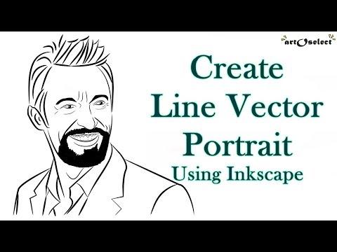 Line Portrait | Digital Vector Art Tutorial | Inkscape