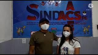 ACEs de Santa Cruz do Capibaribe visitam sede do SINDACS-PE