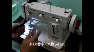 帆布/革 上下送りポータブルミシン LC-PZP説明動画