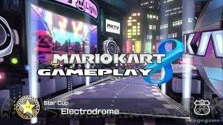 Mario Kart 8 -  Electro Drome - Star Cup - Yoshi Gameplay [ HD ]