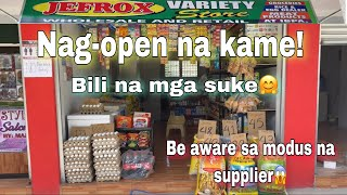Nag open na kame ng tindahan  / mini grocery store business