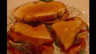 Betty's Grilled Pepperoni-pesto Sandwiches
