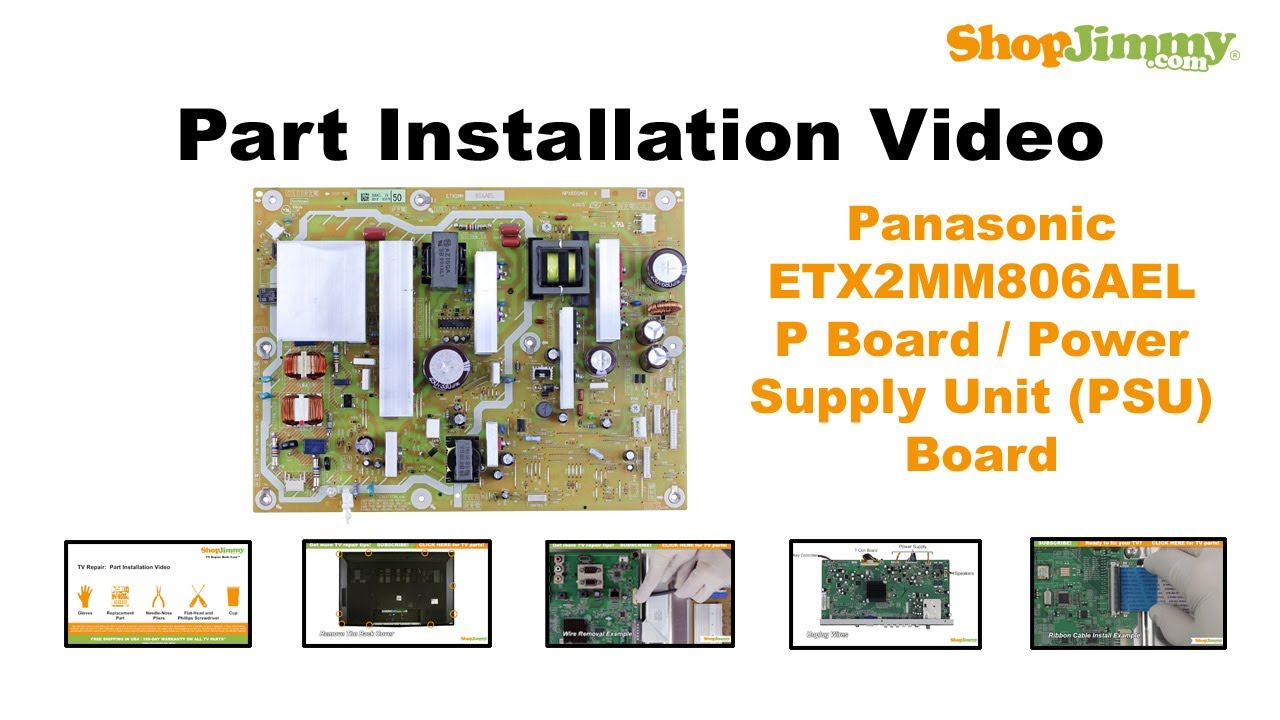 panasonic plasma tv repair - replacing & installing power supply - how to  fix plasma tvs - youtube