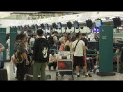 Hong Kong airport reopens after protests