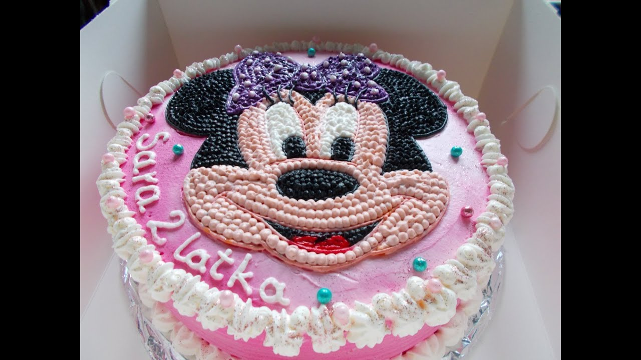 Minnie Mouse Birthday Cake YouTube