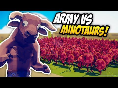 ARMY VS MINOTAURS - Totally Accurate Battle Simulator (TABS)