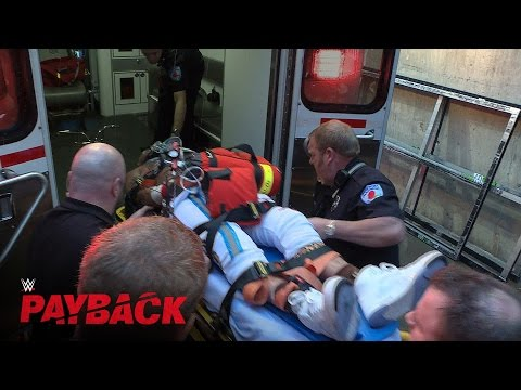 Enzo Amore receives medical attention at WWE Payback 2016: May 1, 2016