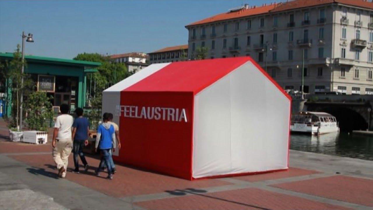 Milano costruita casa di cartone sulla sponda della for Casa costruita