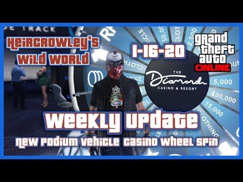 GTA Online Weekly Update-New Podium Vehicle-Casino Wheel Spin 1-16-20