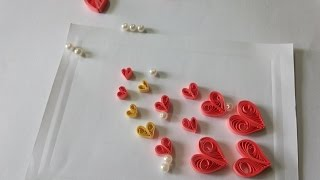 DIY PAPER QUILLING ART AND CRAFT - HOW TO MAKE HEART GREETINGS CARD II SUMITA'S QUILLING ART