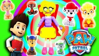 Paw Patrol Greedy Granny Game w/ Ryder, Chase, Marshall, Rubble & Skye & Learn Colors & Numbers!