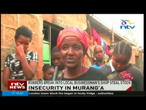 Residents decry increasing incidents of crime in Gatunyu, Murang'a