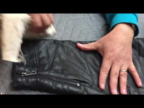 Leather Jacket Repair - YouTube
