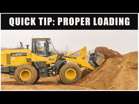 How To Properly Load A Wheel Loader Bucket | Quick Tips // Heavy Equipment Operator
