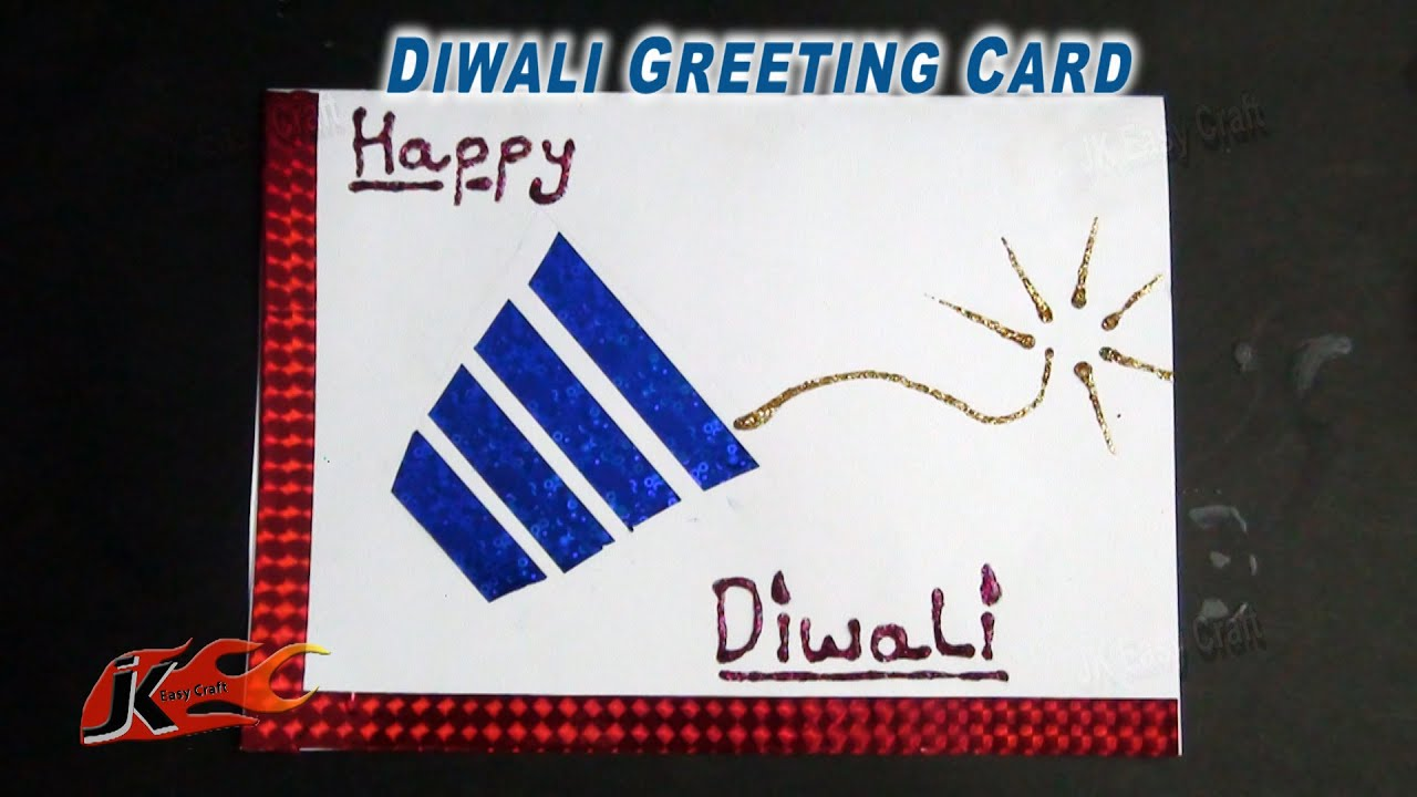 Diy easy diwali greeting card school projects for kids how to diy easy diwali greeting card school projects for kids how to make jk easy craft 061 youtube kristyandbryce Gallery