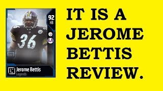HOW GOOD IS 92 OVERALL JEROME BETTIS? MUT 18 CARD REVIEW