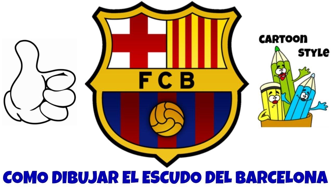 Como Dibujar El Escudo Del Barcelona How To Draw The Barcelona
