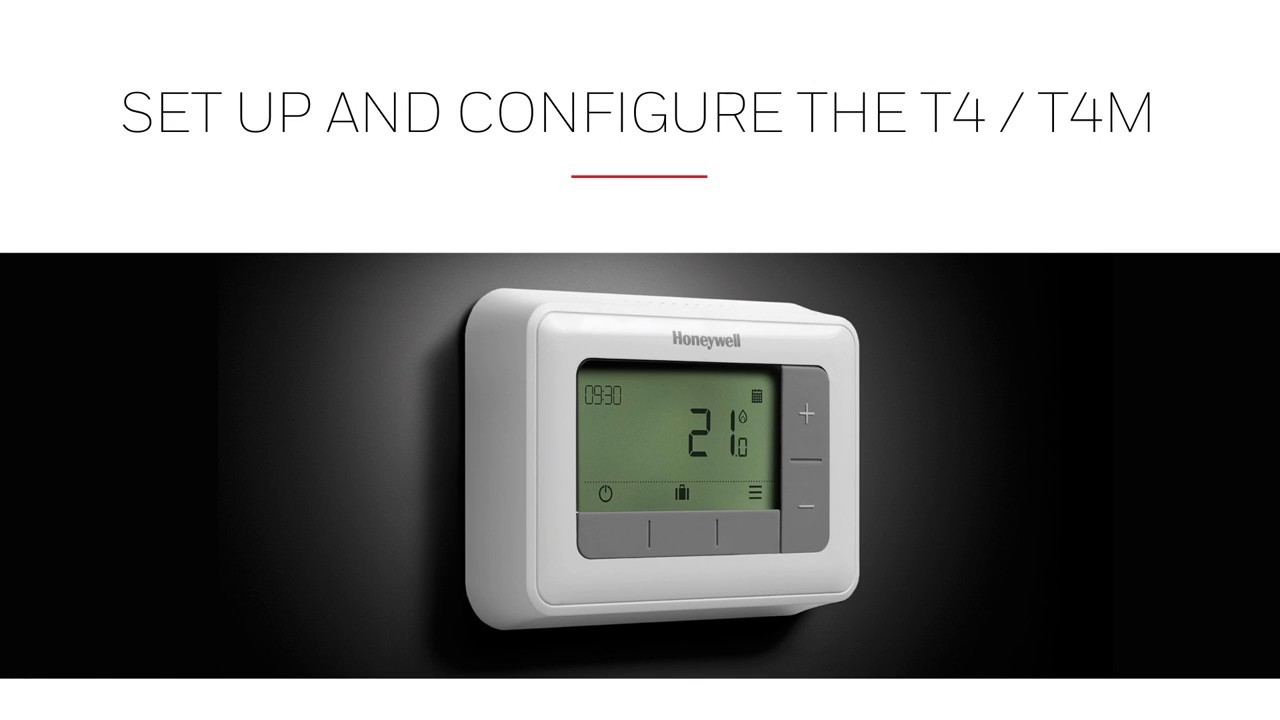 installing honeywell t4 t4m programmable room thermostats youtube rh youtube com  honeywell rth7400d1008 manual
