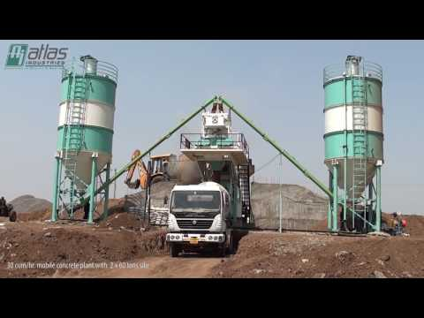 Ready mix machine - Central mix concrete batch plant