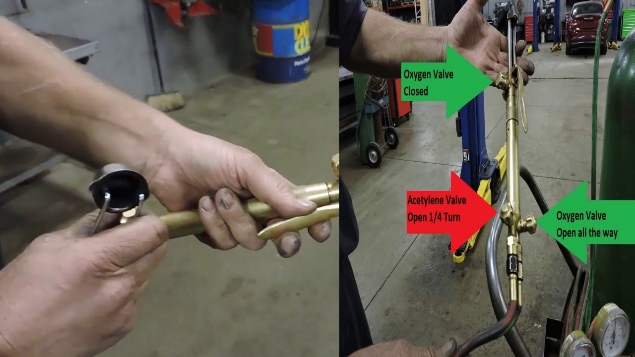 how to use an acetylene cutting torch