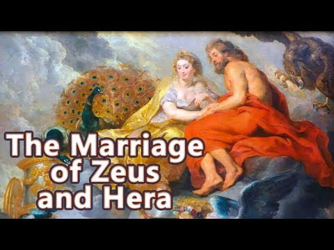 The Marriage of Hera and Zeus - The Myth of Chelone - Greek Mythology See U in History
