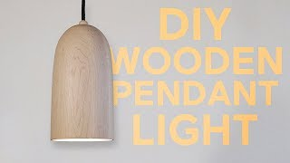 Wooden Pendant Light | Woodturning | Modern Builds