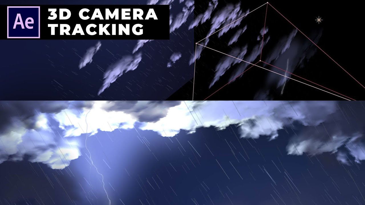 Dark Cloud and Raining Animation in After Effects 3D Tutorial