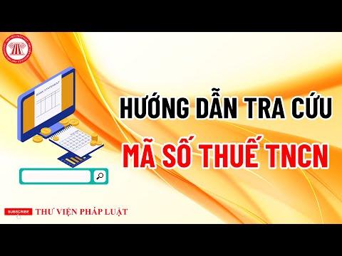 Hướng Dẫn Tra Cứu Mã Số Thuế TNCN   TVPL