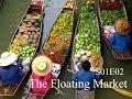 Drive through the floating market, Bangkok, Thailand