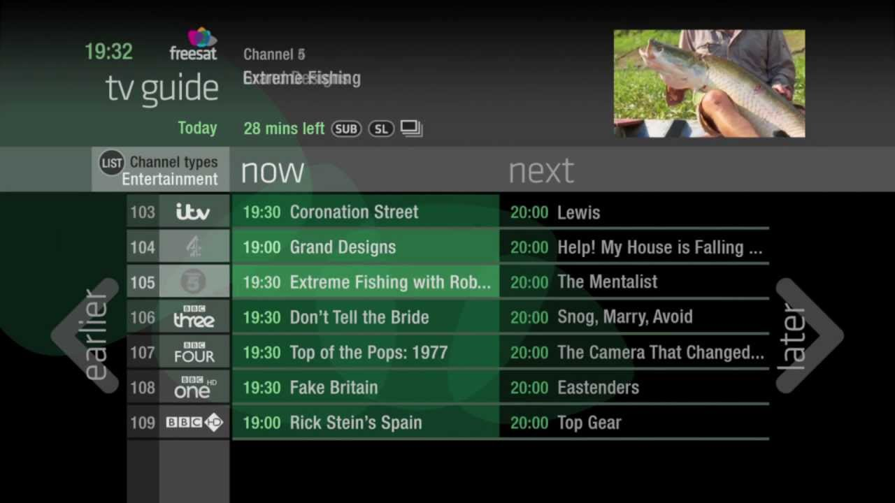 Freetime - the smart new TV guide from Freesat