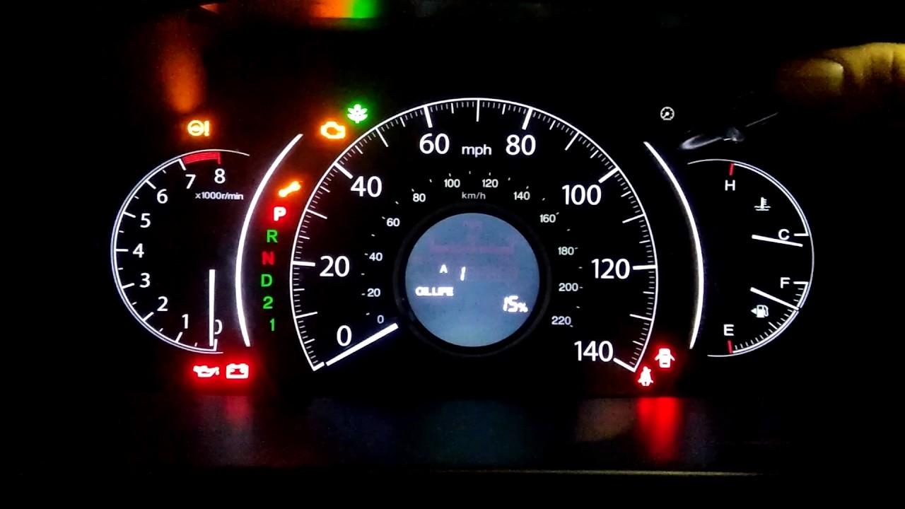 2012 Honda Crv Oil Life Reminder Reset Youtube