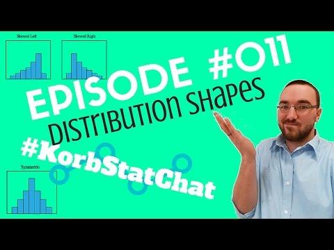 Episode #011 - Distribution Shapes #KorbStatChat