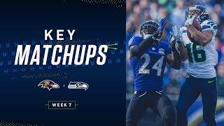 2019 Week 7: Seahawks vs Ravens Key Matchups