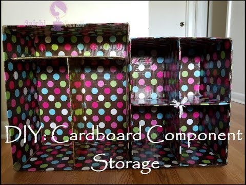 How to make cardboard component storage boxes