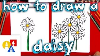 How To Draw A Daisy Flower