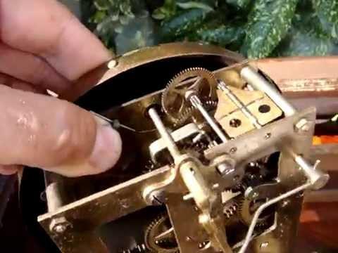 Gustav Becker Clock Movement P18 Detail Doovi