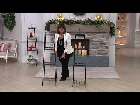 """3-Tier 60"""" Metal Wrought Iron Decorative Etagere on QVC"""