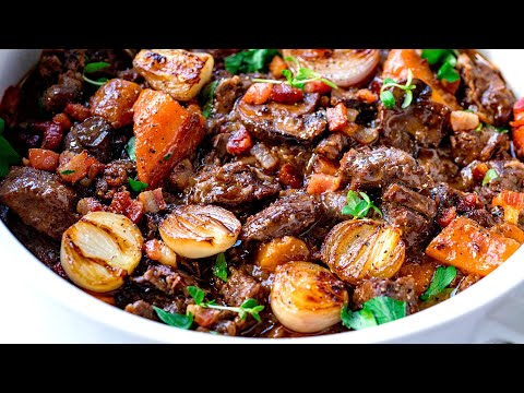 Beef Bourguignon - Slow Cooked To Perfection!