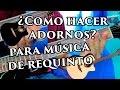 Como hacer adornos en Guitarra tipo Ariel Camacho, Miguel y Miguel, etc.