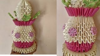 3d origami showpiece || how to make samaiyu using paper || paper quilling