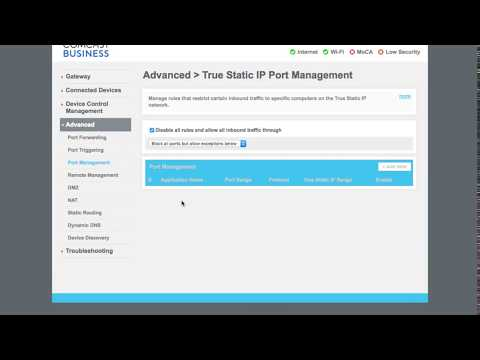 How To Setup Wifi Comcast Business Gateway Youtube