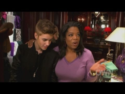 Justin Bieber goes shopping with Oprah Winfrey