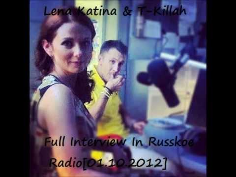 Lena Katina & T-Killah In Russkoe Radio Full Interview[01.10.2012]